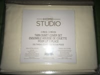 Home Studio Twin Duvet Cover+Sham Ivory Brand New in package Montréal, H4G 1M2