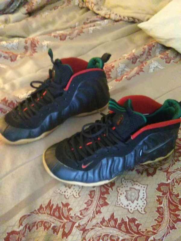 Used black-and-red Nike Air Foamposite sneakers for sale in Atlanta - letgo 9c87f79c1efcb