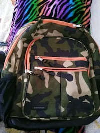 black, white, and green camouflage backpack Tulsa, 74106