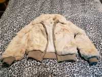 Rabbit fur coat size med.