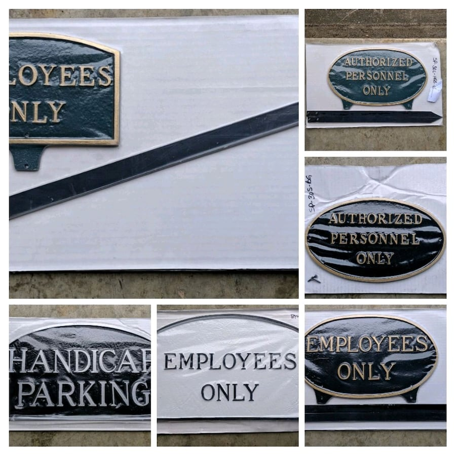 New Iron Signs