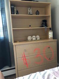 Brown wooden 3-drawer chest Calgary, T2S 0B4