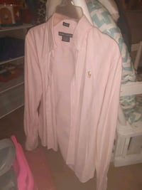 Pink polo shirt size 4
