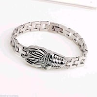Men Punk Silver Stainless Steel Dragon Link Bracelet New London, N6P 1P6