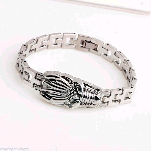Men Punk Silver Stainless Steel Dragon Link Bracelet New fd20d7f7-99b8-453b-92bc-9a0e57060770