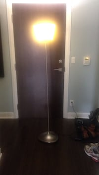 gray torchiere lamp