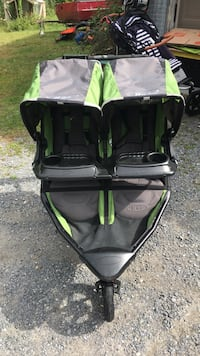 baby's green and black twin jogging stroller Middlebury, 05753