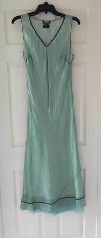 Rozae Nichols Aqua Silk Dress Hamilton, L9G