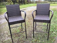 New, Set of 2 bar height wicker chairs.Larger seats, sturdy construction! Etna, 43062