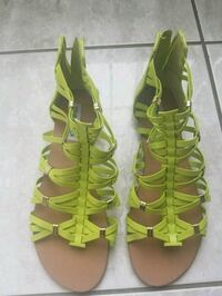 pair of green open toe ankle strap sandles Boston, 02126