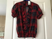 Red and black plaid button-up shirt Germantown, 20874