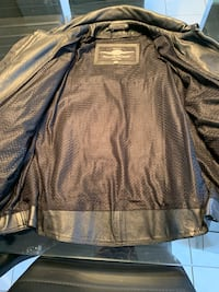 Road krome  leather riding jacket like new.