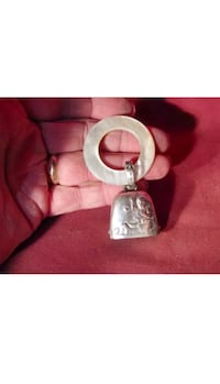 VINTAGE BABY SILVER AND MOTHER OF PEARL  RATTLE TEETHER  Miami, 33184