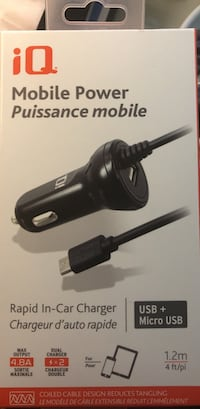 black iQ Mobile Power Puissance mobile rapid in-car charger box Kelowna, V1V 2M8