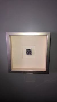 Crystal in picture frame