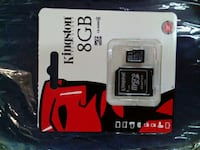 Kingston 8GB tarjeta micro SD con adaptador