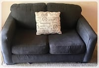 Couch Sofa 2-seat Gray Brown Fabric Pomona