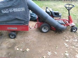 10 hp Snapper rear engine rider all attachments leaf collection cart