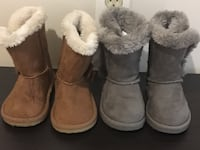 Two pairs of chestnut and grey boots 35 mi