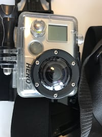 GoPro Hero2 with chesty strap head mount and many other mounts