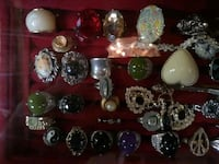 assorted color gemstone embellished ring lot St. Catharines, L2R