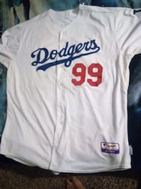 white and blue Los Angeles Dodgers jersey shirt Perris, 92571