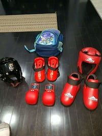 red and black martial arts sparring gear Orangeville, L9W