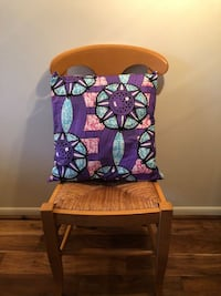 "Handmade African Print Throw Pillows - Made in Ghana - 16""x16"" - 100% Cotton Cover - Brand New"