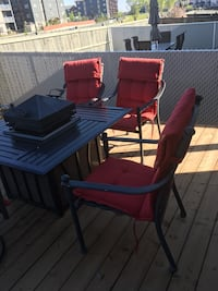 black and red patio table set Edmonton, T5Y