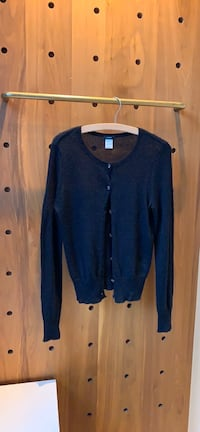 J. Crew Black Cardigan with Sparkling Buttons