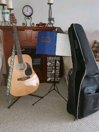 Guitar, Guitar Stand, Music Stand, Strap and Case