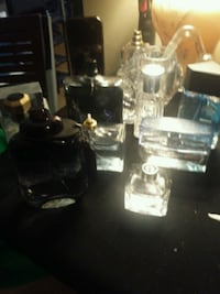 Assorted colognes.