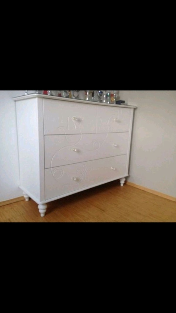 Used Ikea Kviby White Wooden 4 Drawer Chest For Sale In West Haven