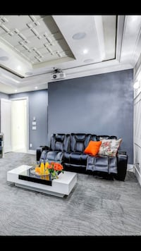 Theater room leather couch  Surrey, V3W 2P3