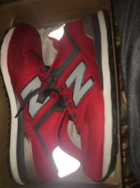 red-and-gray New Balance low-top running shoes with box North Miami