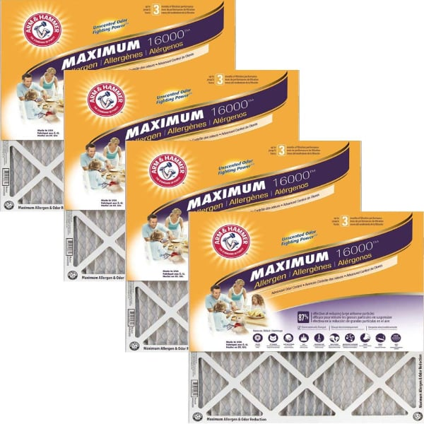 NEW $60 Arm & Hammer Max Allergen & Odor Reduction 14x24x1 Air and Fur