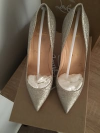 Christian Louboutin Pair of silver  pointed-toe pumps Toronto, M5S