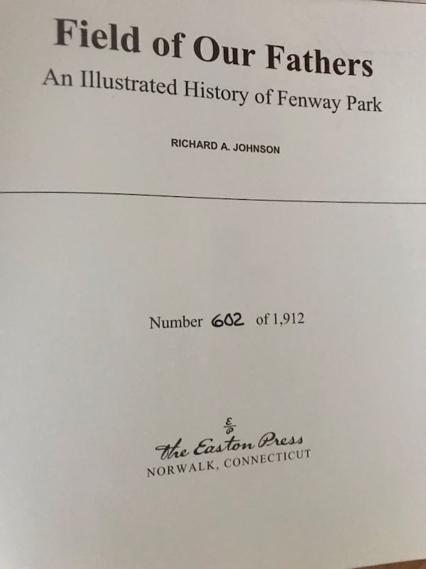Field of our Fathers  an Illustrated History of Fenway Park 1912-2012 500d3e1e-622e-44a6-b314-e7322053645d