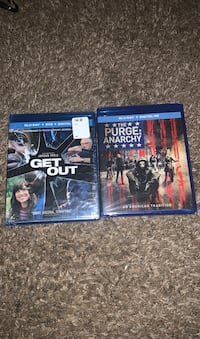 *Brand New Get out & The Purge: Anarchy Blu-Ray