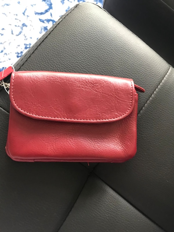 Red cash pouch