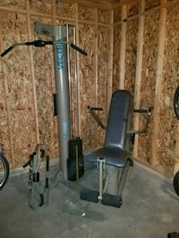 black and silver exercise equipment