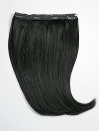Black clip in remy human hair weft thick volume weft quad hair long