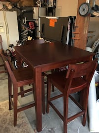 rectangular brown wooden table with six chairs dining set Mission Viejo, 92692