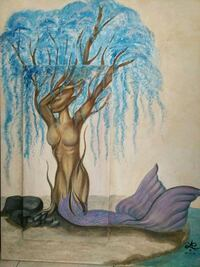 Weeping willow mermaid acrylic painting Orlando, 32817