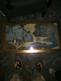 brown wooden framed painting of man and woman Muscle Shoals, 35661