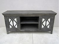 Beautiful Grey Mirrored TV Console Arlington