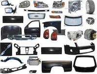 assorted car parts