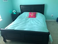 Queen bed, mattress and night stand  ASHBURN