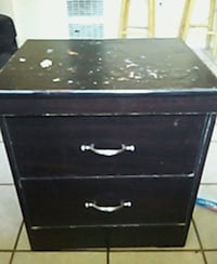 black wooden 2-drawer chest Los Angeles, 90061