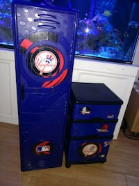 New York Yankees lockers Drawers wheels Dumont, 07628